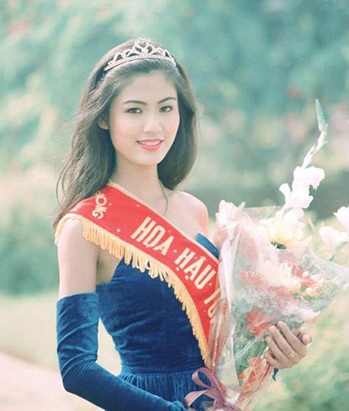 Nguyễn Thu Thuỷ khi đăng quang Hoa hậu Việt Nam 1994.