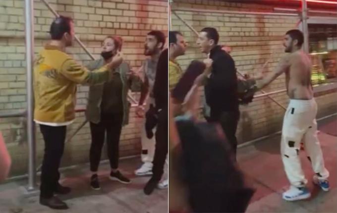 Zayn Malik và người đàn ông mặc áo vàng suýt đánh nhau trên phố.