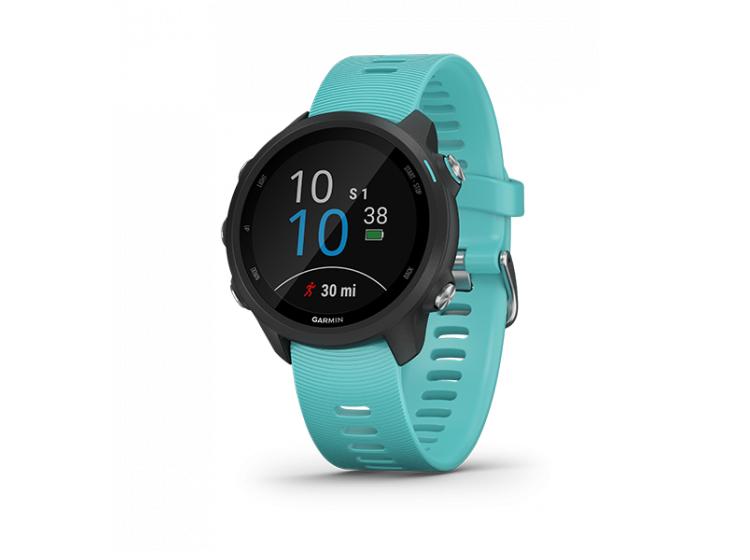Đồng hồ Garmin Forerunner 245 dành cho chạy bộ với các tính năng:  âm nhạc và luyện tập nâng cao. Cụ thể: đồng bộ hóa với dịch vụ nghe nhạc trực tuyến để lưu trữ và phát các bài hát ngay trên đồng hồ, đánh giá trạng thái tập luyện hiện tại của bạn, nhận các kế hoạch luyện tập thích ứng từ Garmin Coach hoặc tạo các bài tập tùy chỉnh tại Garmin Connect; cung cấp ứng dụng theo dõi chạy bộ... Thời lượng pin lên đến 7 ngày trong chế độ đồng hồ lên đến 6 giờ ở chế độ GPS với âm nhạc. Sản phẩm có các màu đen, đỏ, xanh ngọc, bảo hành 12 tháng. Giá gốc 8,99 triệu đồng. Nhập mã F245MT6 được giảm còn 7,43 triệu đồng.