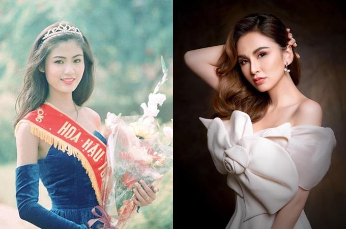 Diễm Hương (phải) bức xúc khi bị nói lợi dụng hình ảnh hoa hậu Thu Thủy để PR sản phẩm.