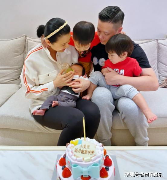 Gia đình nhỏ của Hồ Hạnh Nhi.