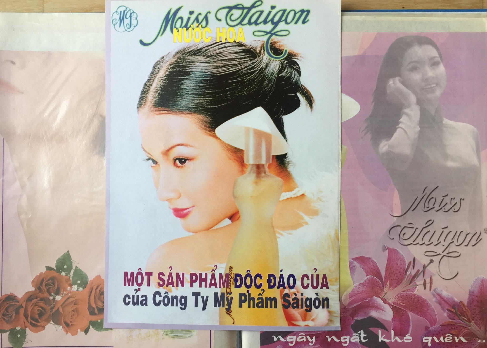 Mỹ nhân còn đắt show quảng cáo, trong đó hình ảnh biểu tượng cho nước hoa Miss Saigon đã trở nên khó quên với khán giả nhiều thế hệ ở TP HCM.