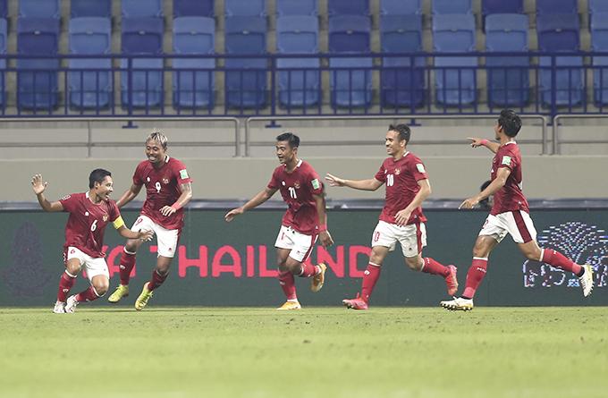 Tuyển Indonesia đang có tinh thần tốt sau trận hoà 2-2 với Thái Lan. Ảnh: Lâm Thoả.