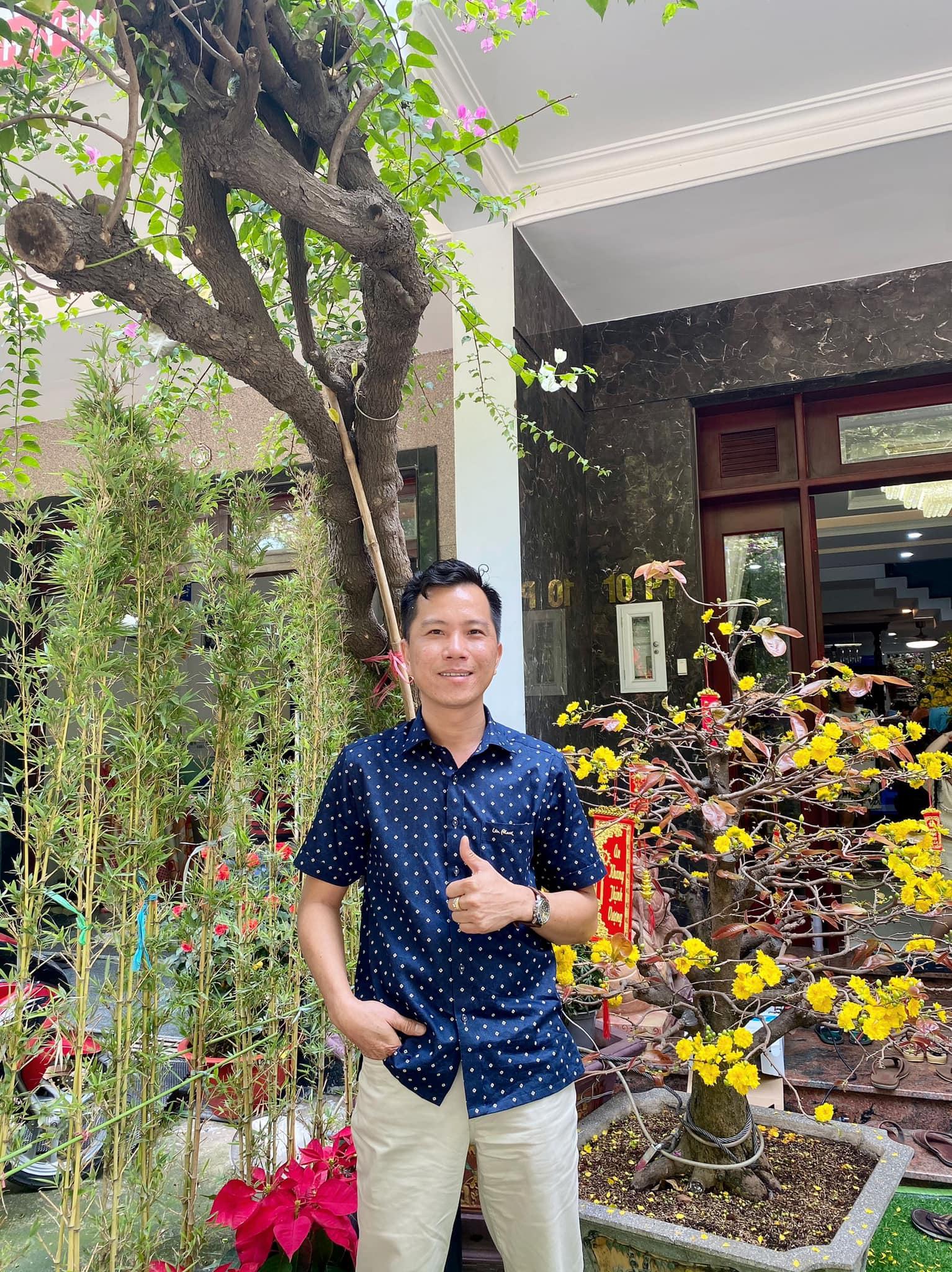 Anh Tuấn Đoàn, chủ cửa hàng kinh doanh vật liệu xây dựng Tuấn Phát tại Bình Dương. Ảnh: NVCC