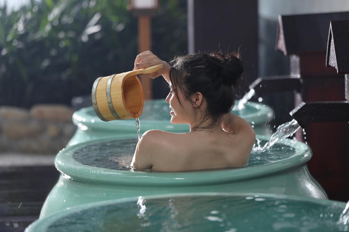 Tắm khoáng nóng, một nét văn hóa của người Nhật.