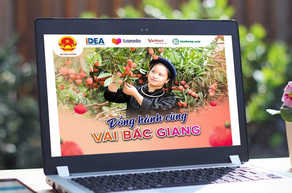 Lazada sẽ triển khai hợp tác cùng hai đối tác bán lẻ lớn VinMart, FoodMap mở bán vải thiều Bắc Giang từ ngày 8/6. Ảnh: Lazada Việt Nam.