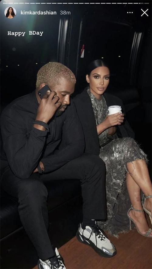 Khoảnh khắc đi dự tiệc cùng Kanye cũng được Kim chia sẻ lại hôm 8/6.