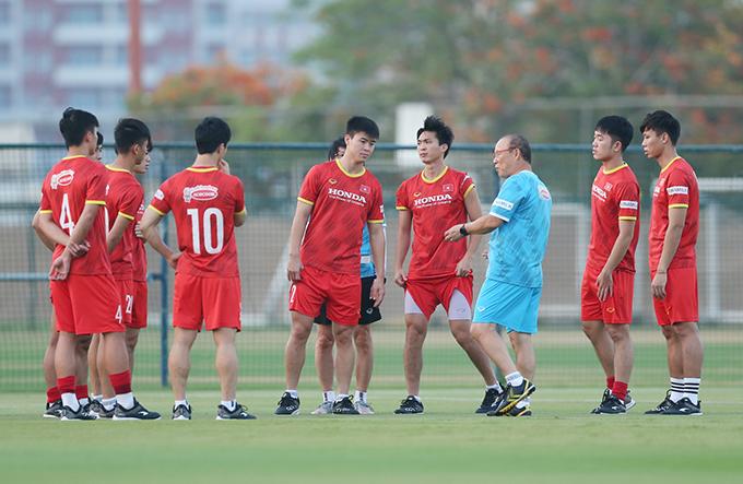 Tuyển Việt Nam sau chiến thắng 4-0 trước Indonesia được kỳ vọng sẽ giành vé vào vòng loại cuối cùng World Cup 2022. Ảnh: Lâm Thoả.