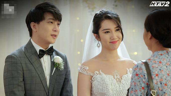 B Trần - Thúy Ngân đóng cảnh đám cưới phim Cây táo nở hoa.