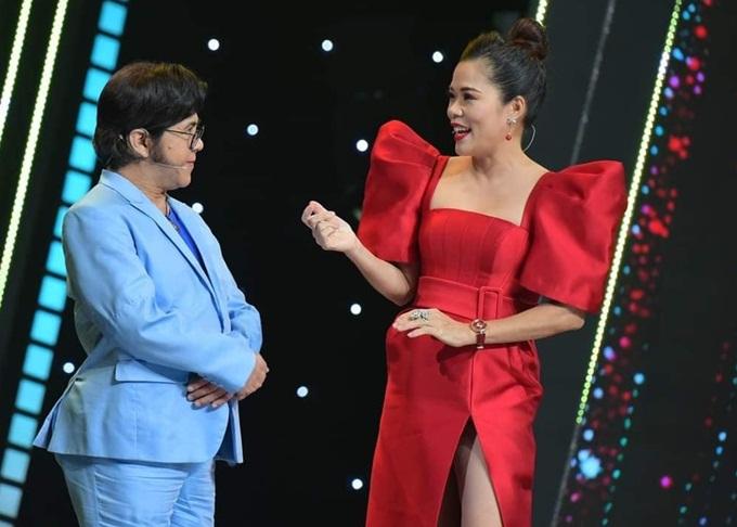 Mỹ Lệ trong chương trình Sao nối ngôi. Cô nhận nhiều lời mời tham gia gameshow khi tái xuất showbiz.