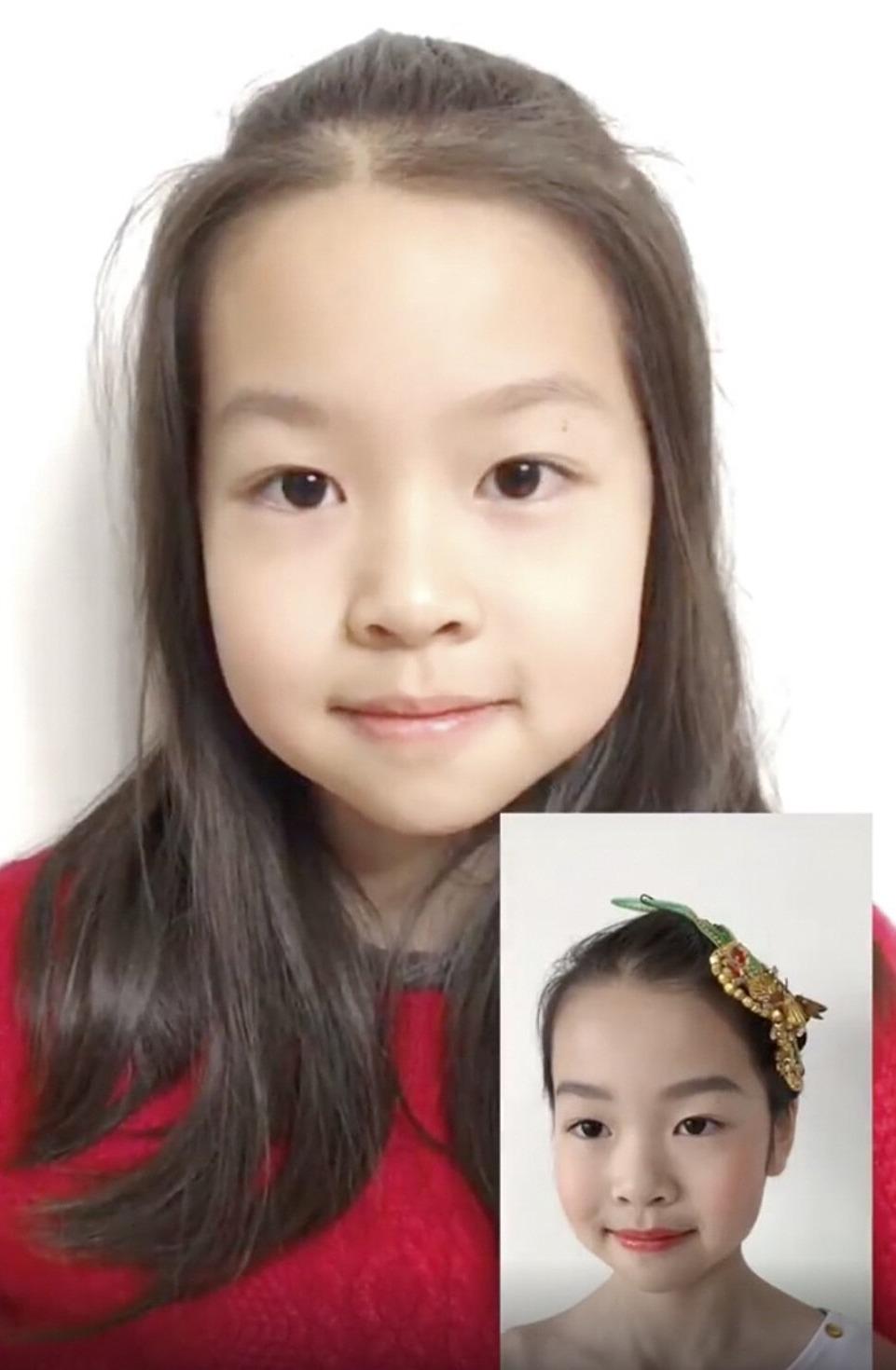 Một bé gái Trung Quốc nổi tiếng trên mạng xã hội với các video trang điểm.