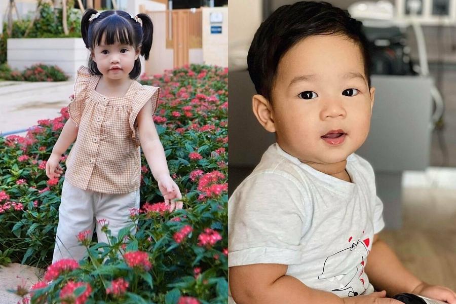 Sophie (trái) và Liam là hai trái ngọt hôn nhân của vợ chồng Đặng Thu Thảo.