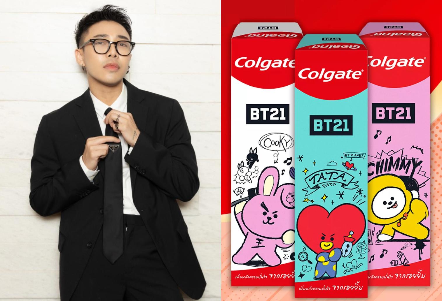 Với các fan của nhóm nhạc Hàn Quốc BTS, bộ sưu tập giới hạn BT21 kết hợp cùng các nhãn hàng không còn xa lạ. Hầu hết những sản phẩm có sự xuất hiện của các nhân vật Koya, RJ, Shooky, Mang, Chimmy, Tata và Cooky từ BT21 đều nhanh chóng cháy hàng. Trong lễ hội mua sắm hè lần này, stylist Hoàng Ku đã sắm kịp một bộ ba kem đánh răng phiên bản giới hạn Colgate x BT21, mở bán độc quyền trên Lazada và tặng kèm ly tumbler Colgate tiện dụng.