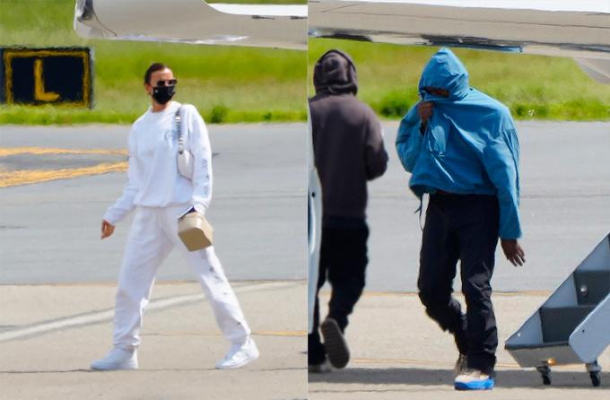 Irina và Kanye về Mỹ sau kỳ nghỉ ở Pháp.