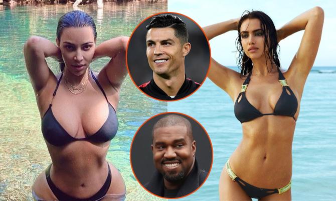 Kim và Irina cùng yêu C. Ronaldo và Kanye West.
