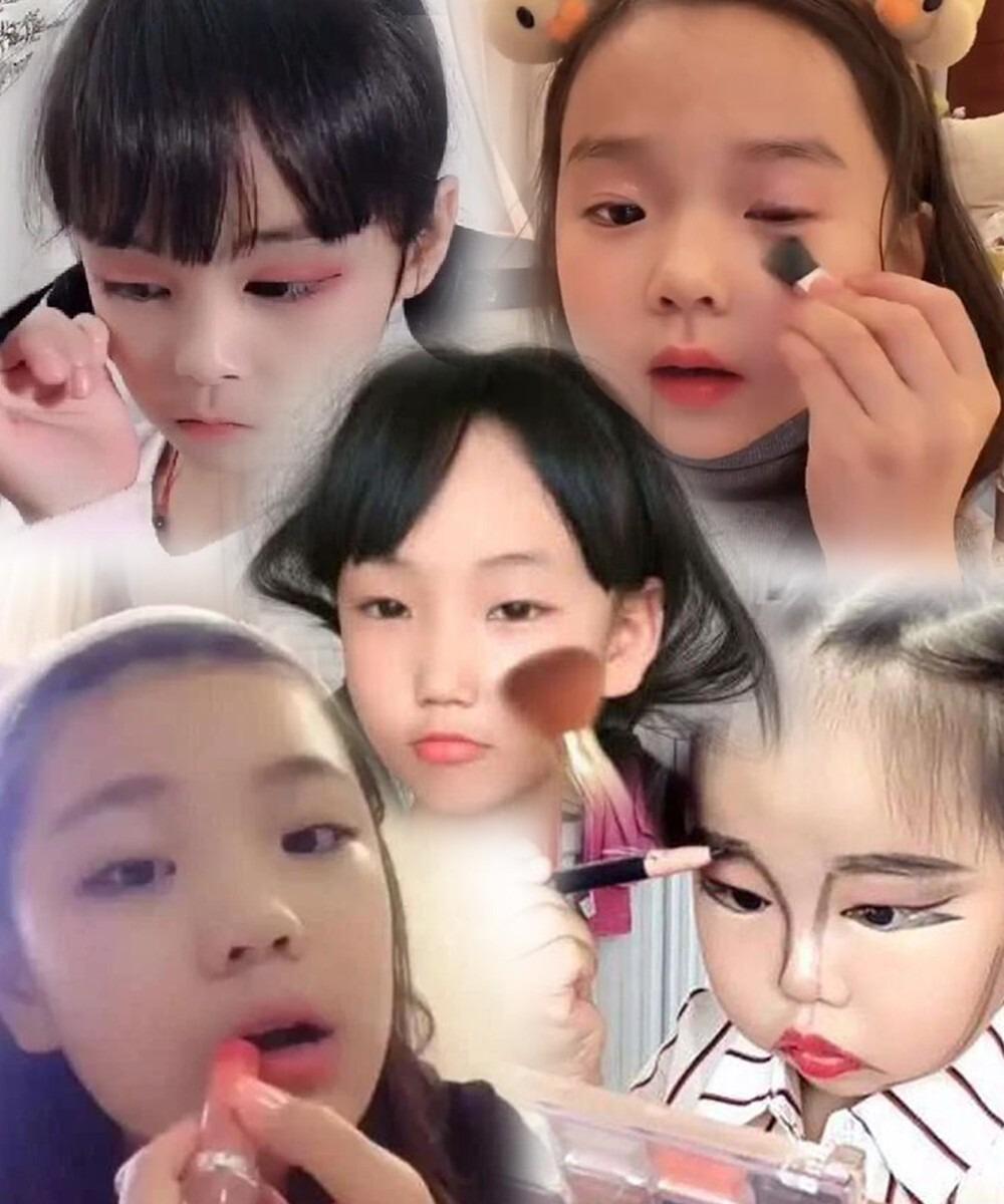 Tại Trung Quốc, nhiều phụ huynh không quá khắt khe trong việc cho con em trang điểm, làm đẹp.