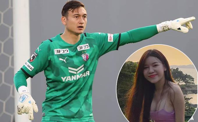 Được bạn gái Yến Xuân cổ vũ từ xa, Văn Lâm không phải hoạt động nhiều trong trận đấu với đội hạng ba Gainare Tottori. Ảnh: CO & YX.