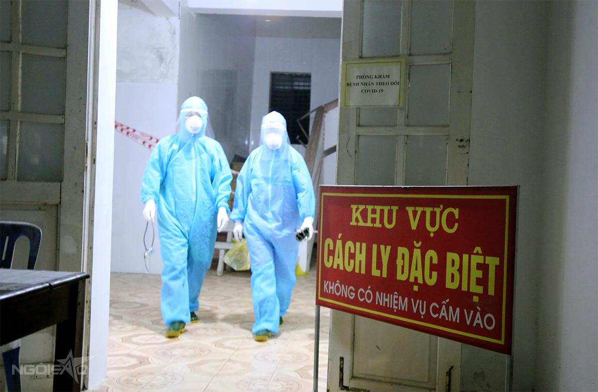 Khu vực cách ly đặc biệt của Bệnh viện Đa khoa khu vực cửa khẩu quốc tế Cầu Treo, nơi hai vợ chồng doanh nhân điều trị trước khi chuyển ra Hà Nội. Ảnh: Hùng Lê