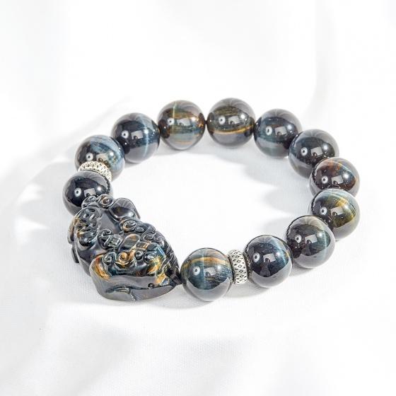 Vòng tay nam đá mắt hổ xanh đen phối tỳ hưu 14mm mệnh thủy, mộc - Ngọc Quý Gemstones 879.000đ (- 35 %) Là món quà ý nghĩa dành tặng người thân yêu, thích hợp cho cả nam giới và nữ giới.