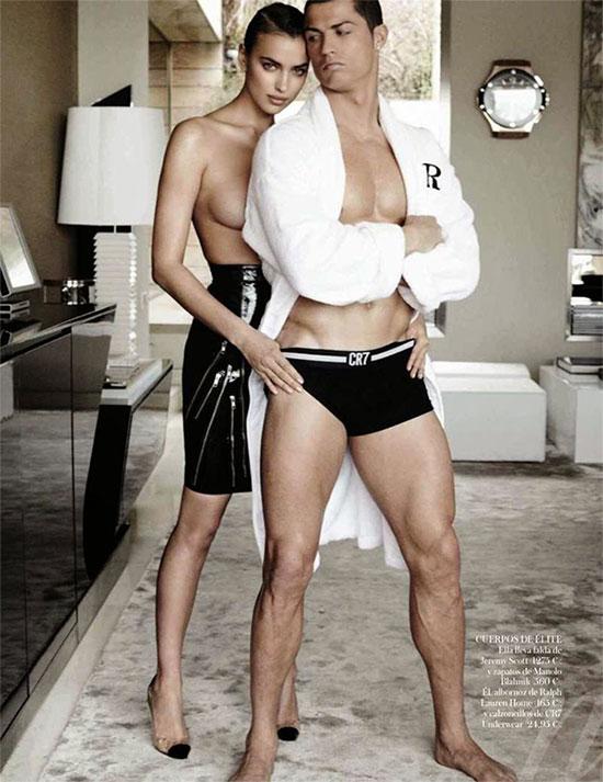 C. Ronaldo và tình cũ Irina Shayk từng có bộ ảnh khoe thân táo bạo năm 2014.