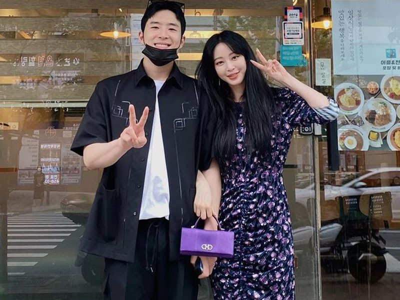Han Ye Seul và bạn trai hiện tại.