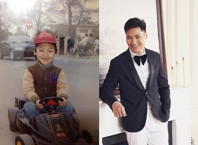 Diễn viên Mạnh Trường đăng ảnh hồi nhỏ và hiện tại, fan liền nhận xét bé Chip giống hệt bố lúc nhỏ.