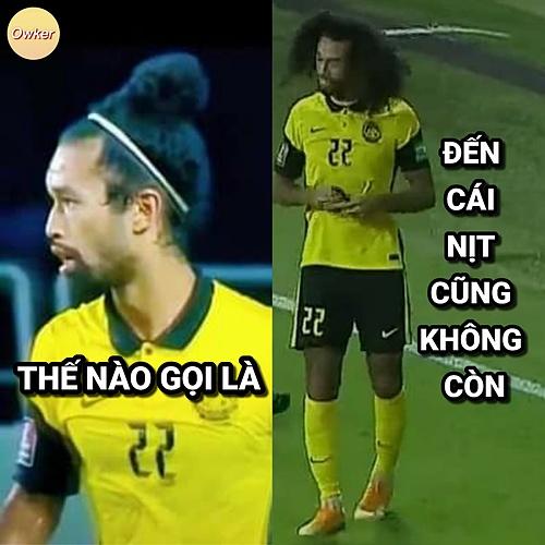 Người hâm mộ nhanh chóng cho các cầu thủ Malaysia đu trend còn cái nịt (mất hết, mất sạch).