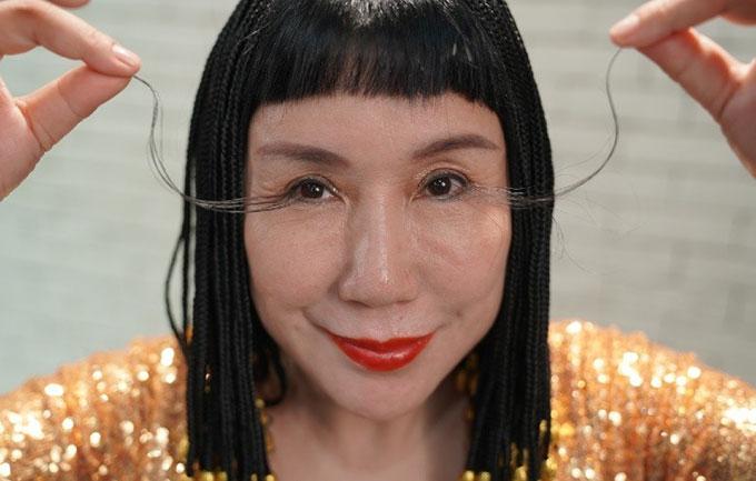 Cô You Jianzia với bộ lông mi dài 20,5 cm. Ảnh: China Images.