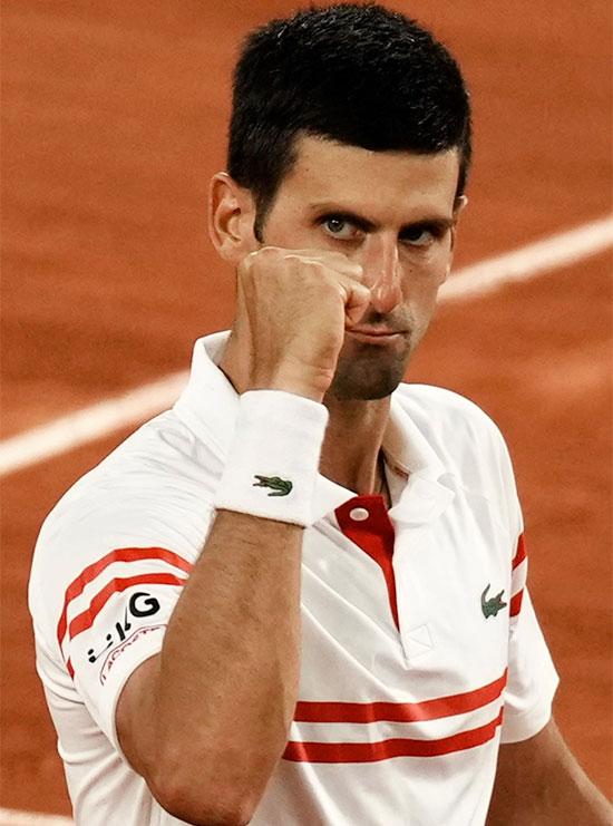 Djokovic đứng trước cơ hội giành danh hiệu Roland Garros thứ hai trong sự nghiệp sau khi vượt qua đối thủ lớn nhất Nadal ở bán kết. Ảnh: AP.