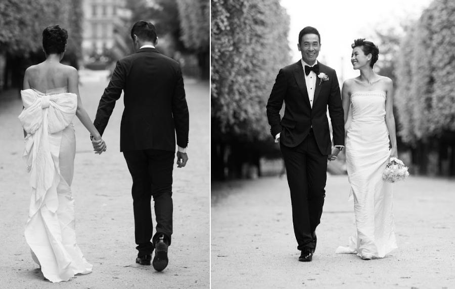 Ảnh cưới của Trần Nhân Mỹ và Trần Hào 7 năm trước.