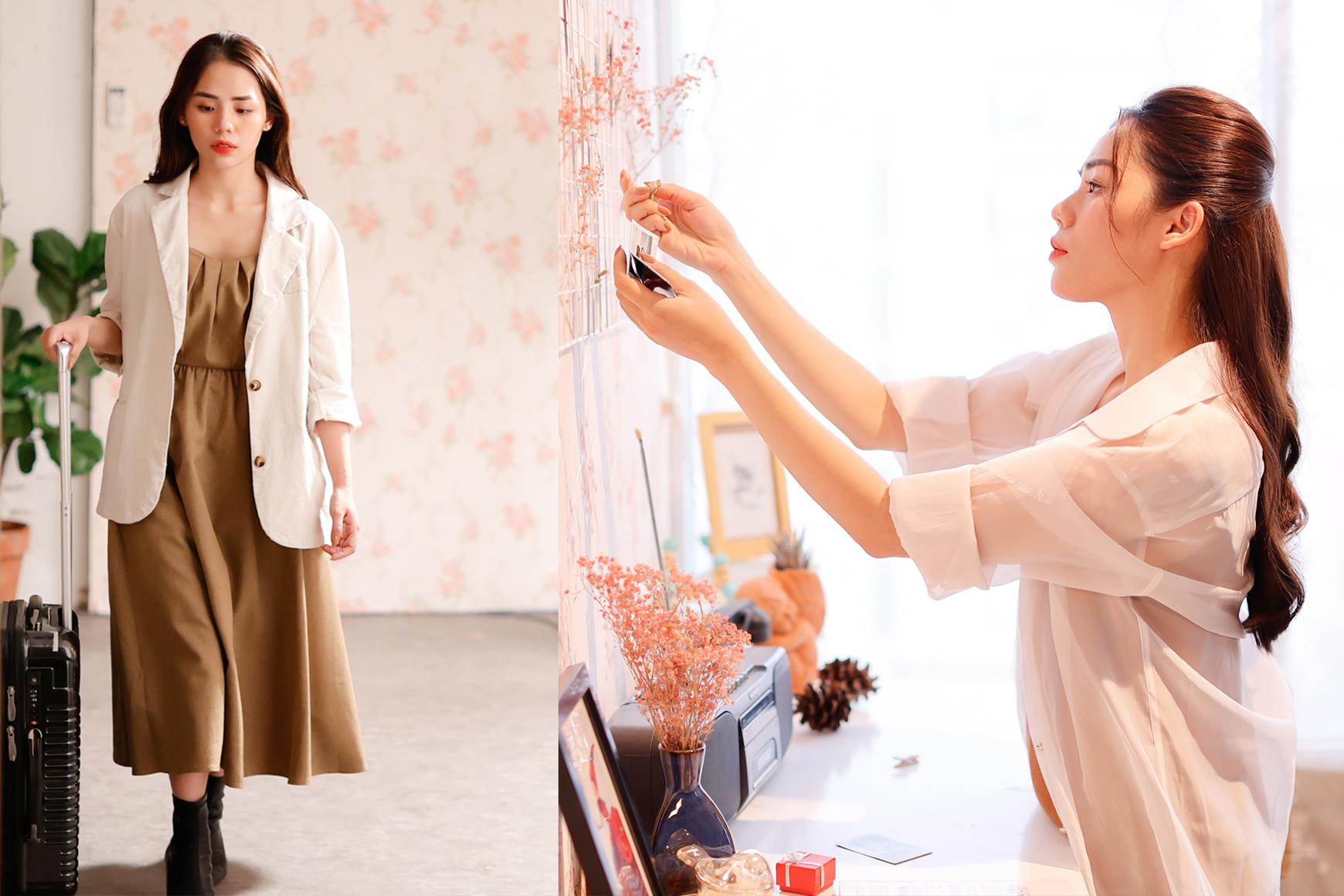 Bạn song ca Hương Ly - diễn vai nữ chính, cũng day dứt không kém. Cô ngậm ngùi dọn dẹp những bức ảnh chứa đựng kỷ niệm đẹp của mối tình đã qua và rời khỏi tổ ấm của hai người.