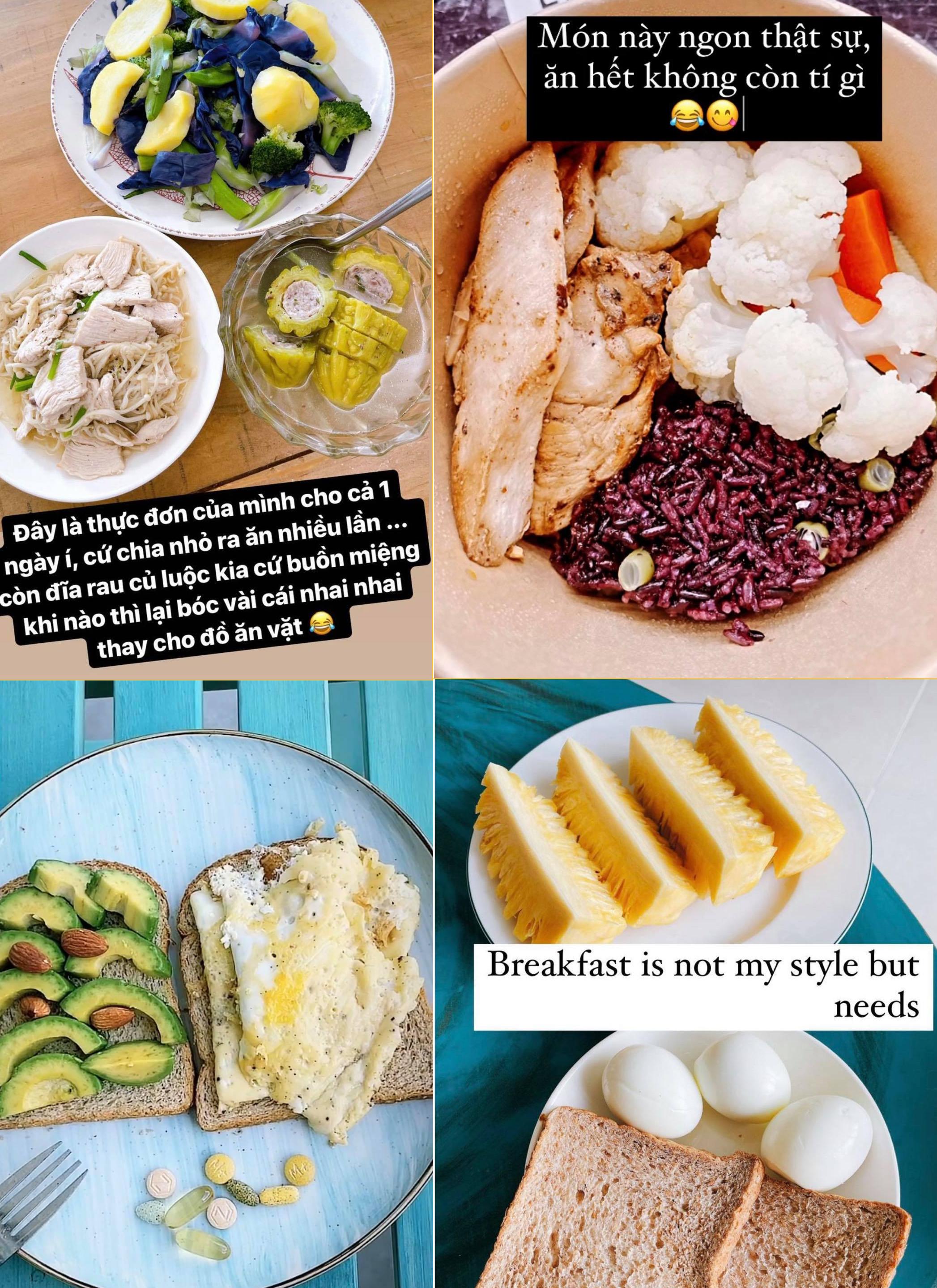 Một vài món ăn quen thuộc trong thực đơn của Kim Duyên.