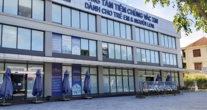 Trung tâm tiêm chủng đóng tại đường Mai Hắc Đế, TP Vinh, chiều 13/6. Ảnh: Nguyễn Hải