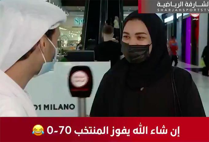 CĐV nữ đoán đội tuyển UAE thắng VIệt Nam với tỷ số không tưởng 70-0.