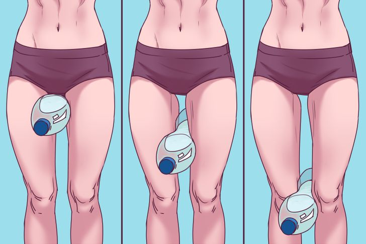 Bài tập 15 phút với chai nước giúp bắp đùi thon gọn - 3