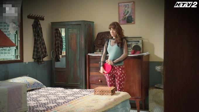 Một góc phòng ngủ của vợ chồng Ngọc - Hạnh.