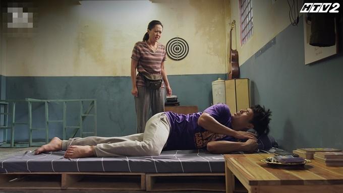 Căn gác nơi Ngà và Dư dùng chung làm phòng ngủ.