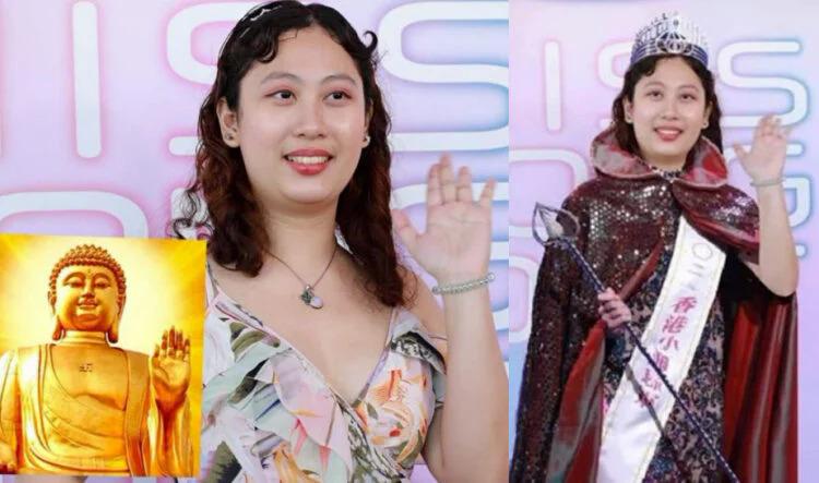Khán giả không cần chờ TVB tổ chức thi, lập tức trao quyền trượng và đeo vương miện, mặc áo bào cho Kristen.