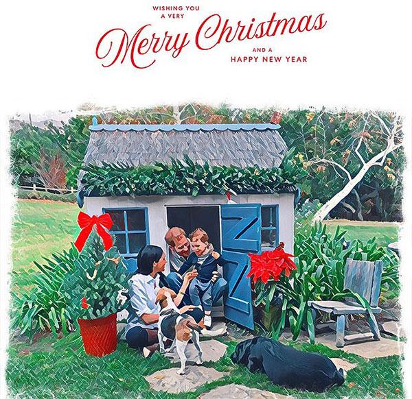 Thiệp Giáng sinh năm 2020 của nhà Sussex.