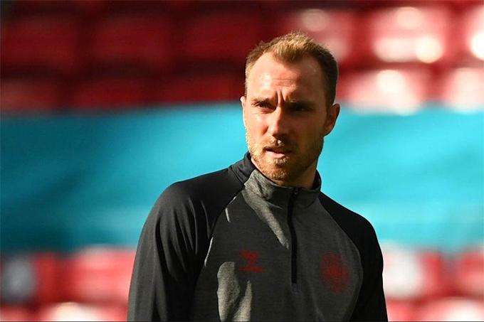 Eriksen đã đến thăm tuyển Đan Mạch sau khi xuất viện hôm 18/6. YSU.