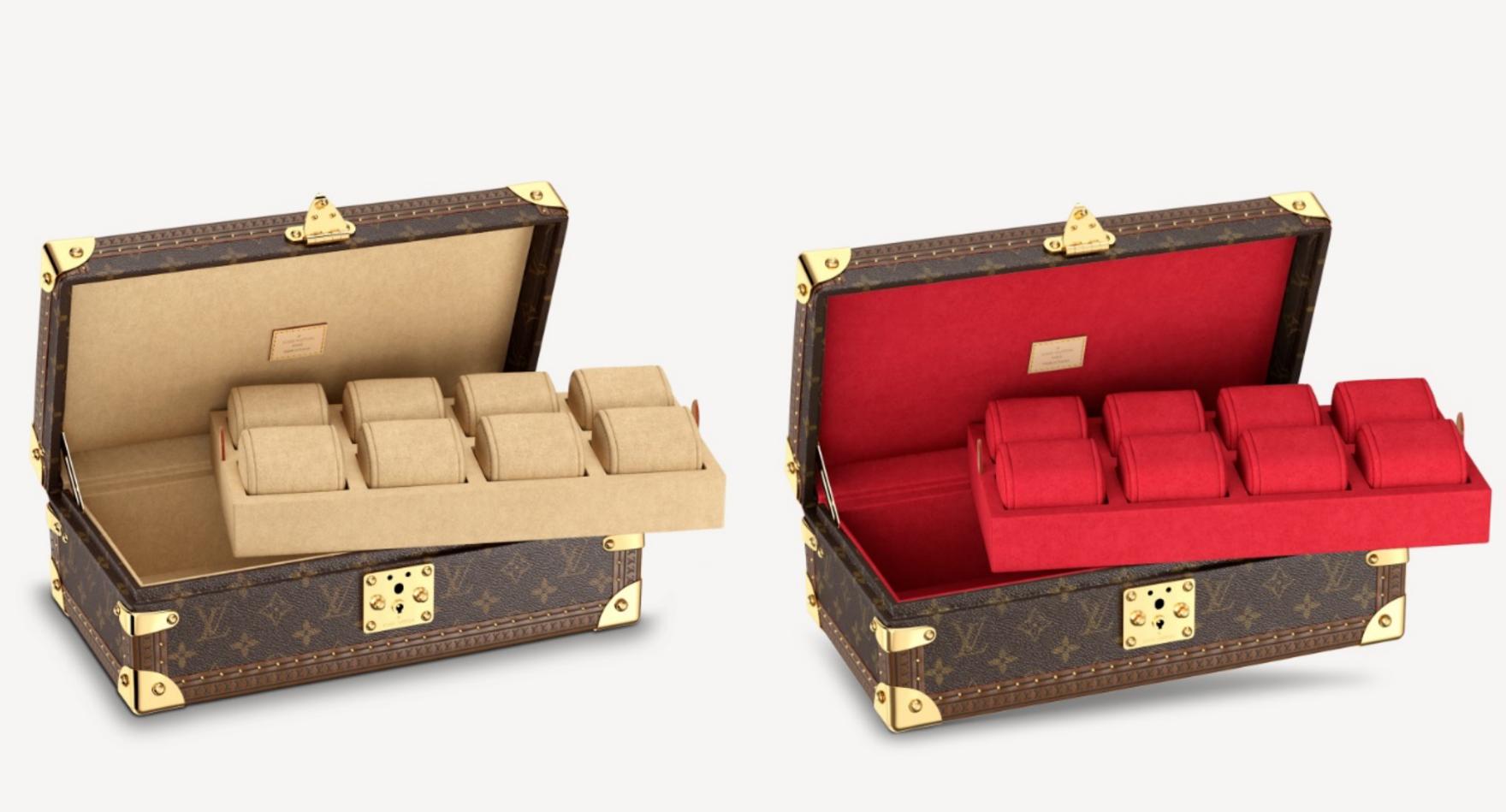 Boite Montres - hộp đựng đồng hồ với phần khay có thể tháo rời.