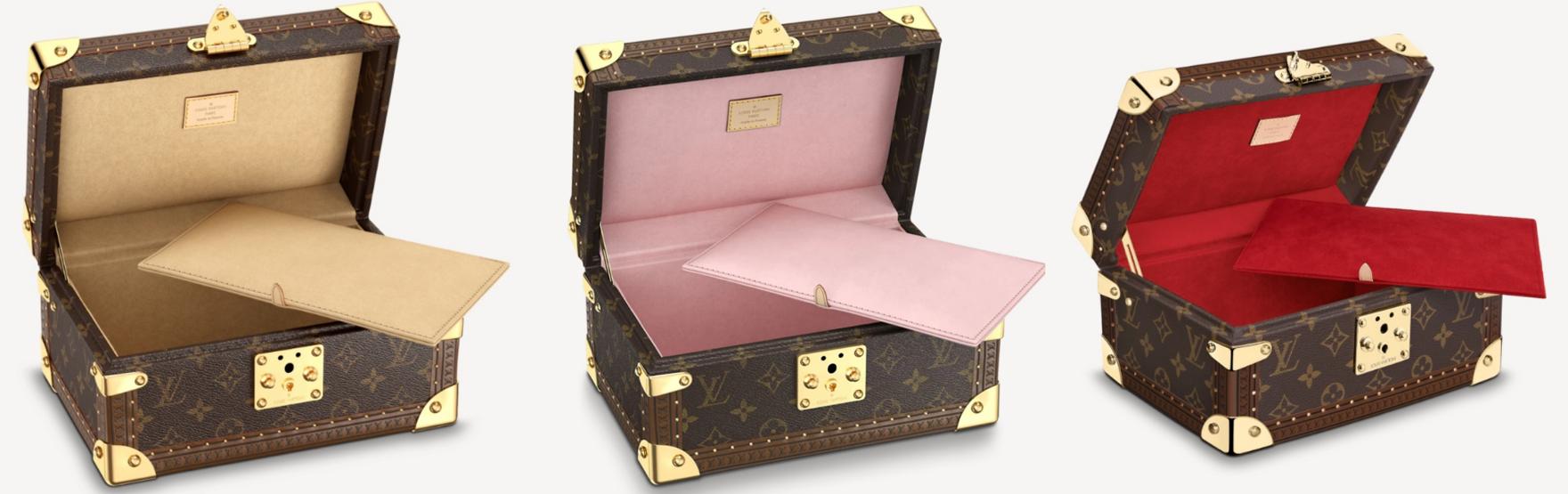 Dòng Coffret Tresor có thể dùng đựng đồ trang sức hay thư từ.