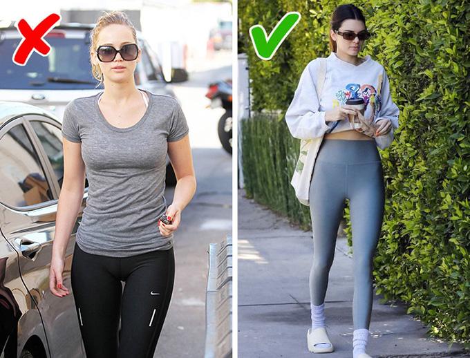 Vô tình tạo hình ảnh nhạy cảmĐể tránh rơi vào trường hợp xấu hổ và khiến người đối diện nhức mắt như Jennifer Lawrence (trái), bạn nên chọn chất liệu dày dặn, mặc thử và ngắm kỹ trước gương.