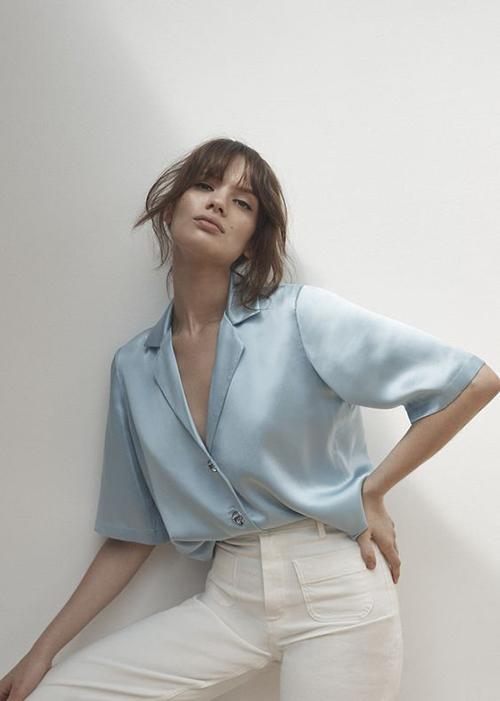 Áo blouse tay ngắn cho mùa hè - 2