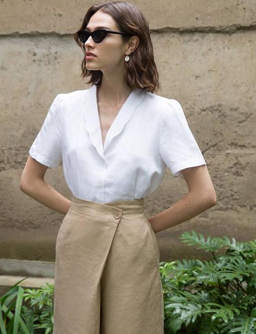 Áo blouse tay ngắn cho mùa hè - 8