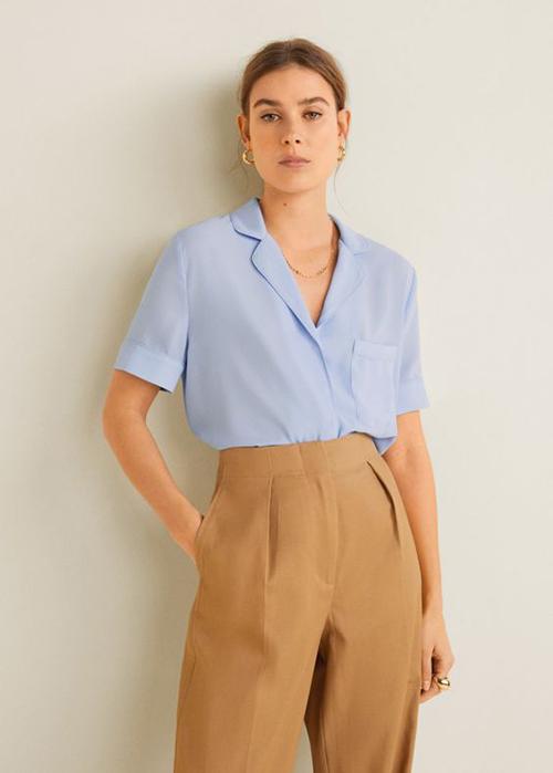 Áo blouse tay ngắn cho mùa hè - 6