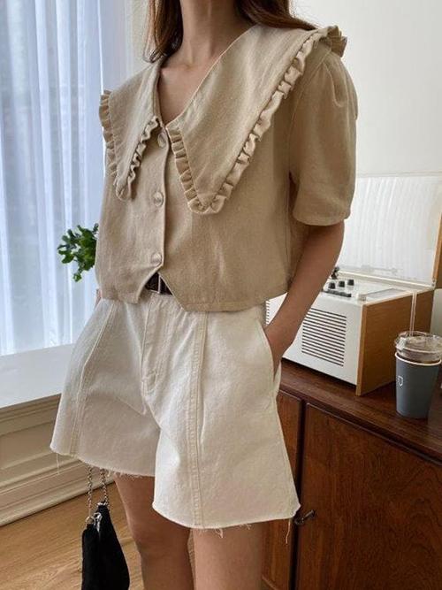 Áo blouse tay ngắn cho mùa hè - 7