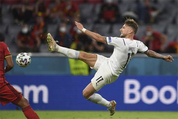 Ciro Immobile đã có hai bàn thắng tại Euro 2020. Ảnh: AFP.