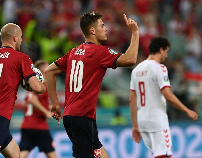 Schick dẫn đầu danh sách ghi bàn tại Euro 2020, cùng với C. Ronaldo. Ảnh: UEFA.