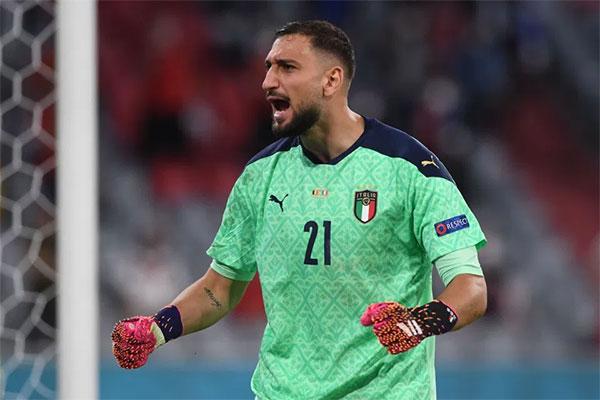 Thủ môn Donnarumma là người gác đền số một của tuyển Italy tại Euro năm nay. Ảnh: AFP.